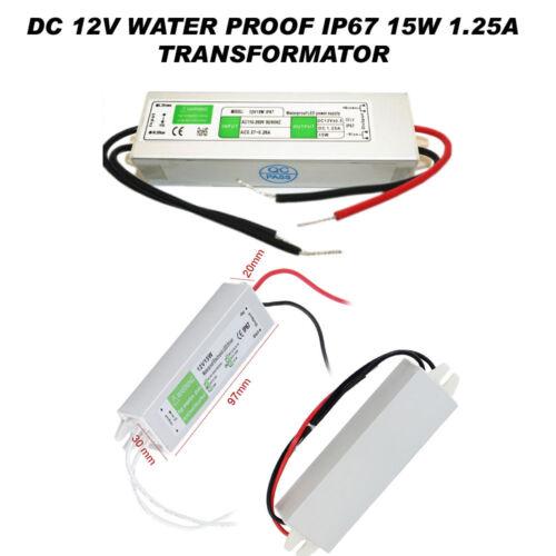 Waterproof IP67 DEL Alimentation Transformateur DC12V 10W-36W un an de garantie