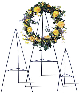 Green Wire Easel Stand Cemetary Wreath Funeral Multiple