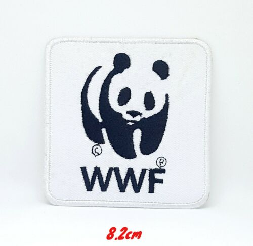 Wwf Panda Logo Repasser à Coudre Patch Brodé Applique #332