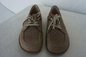 Finn-Comfort-Denver-Homme-Chaussures-a-Lacets-Depots-Gr-40-Cuir-Nubuck-Beige-Neu