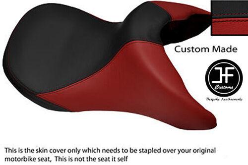 BLACK /& DARK RED AUTOMOTIVE VINYL CUSTOM FITS BMW R 850 R 95-07 FRONT SEAT COVER