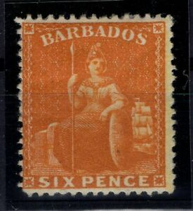 P133350/ BRITISH BARBADOS – SG # 32 MINT MH – CV 225 $