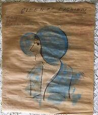 Unique 1929 Atlantic City Boardwalk Tourist Pastel Drawing - Queen of Beauty