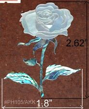 PH105# Rose Inlay Headstock in Paua Abalone & White Mother of Pearl 1.5mm thick