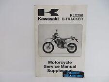 oem kawasaki motorcycle dealer service manual supplement klx 250 d rh ebay co uk kx 125 service manual 2003 klx 125 service manual