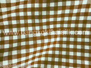 BROWN-1-3-034-CHECHERED-BUFFALO-GINGHAM-COTTON-BLEND-FABRIC-44-034-W-BTY