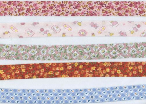 Bias cotton pink and multicolored pattern