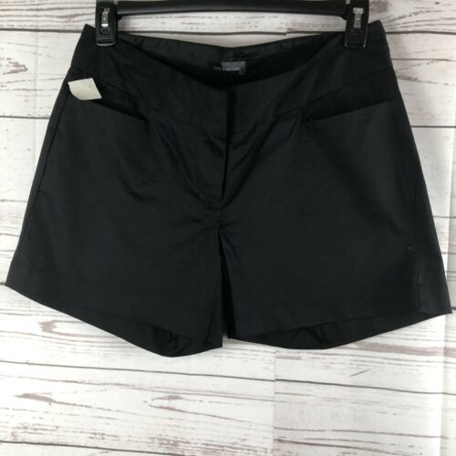 The Limited Chino Shorts Size 8 Black Stretch Poplin NWOT Pockets Front And Back