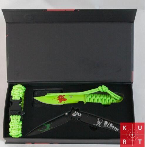 Fahrtenmesser Messer-Set Zombie Dead Einhandmesser Paracordarmband