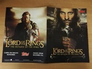 Lord-Of-The-Rings-Return-Of-The-King-Official-Topps-Sellsheet-Sell-Sheet