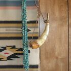 """5 Strand Lot Real Turquoise Loose Pebble Chip Beads 35"""" Strands Grade A"""