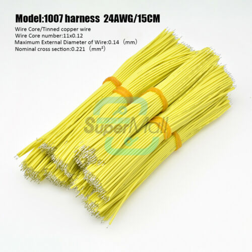 100pcs 1007 24AWG Tin-Plated Double-head Solder Wire PBC Circuit Board for Motor