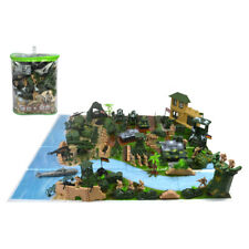130pcs Plastic Military Playset 5cm Army Figures Model Toys For Kids Adult