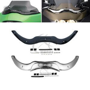 Chrome Steel Windshield Windscreen Trim Fit For Harley Road Glide 2004-2013 2012