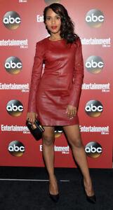 Women-Stylish-Real-Lambskin-Genuine-Leather-Dress-Party-wear-Celebrity-Dress-70