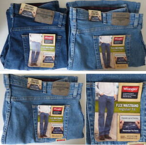 dda12e50 Image is loading Wrangler-Comfort-Flex-Waistband-Regular-Fit-Jean-Men-