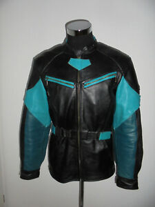 HEIN-GERICKE-Motorradjacke-Bikerjacke-Leder-vintage-motorcycle-jacket-XXL-L