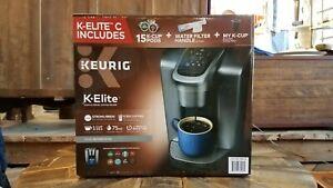 Keurig K-Elite C Single Serve Coffee Maker - Brushed Silver