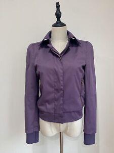ALEXANDER-MCQUEEN-Size-40IT-6-8AU-Designer-Purple-Bomber-Jacket-BNWOT