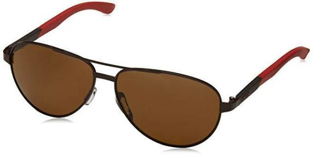 4c9075b328 New Smith Optics SALUTE Aviator Sunglasses Matte Brown Red Brown POLARIZED