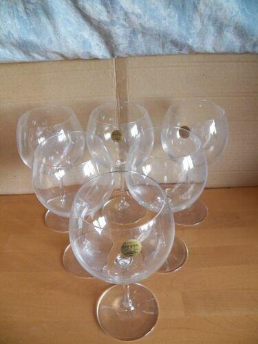 6 Trinkgläser Rotweingläser auf hohem Fuß ca. 19,5 cm hoch von Capri Cristall 24