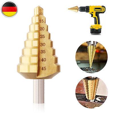 HSS Stufenbohrer 10-45 Mm Schälbohrer Konusbohrer Kegelbohrer Für Metall Holz