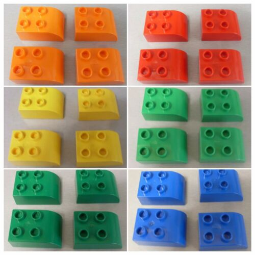 LEGO DUPLO SPARES 2302 CURVED END BRICKS SELECTION OF VARIOUS COLOURS