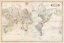 World Old 1841 Antique Map Mirrored Mercator projection Extreme Definition PDF