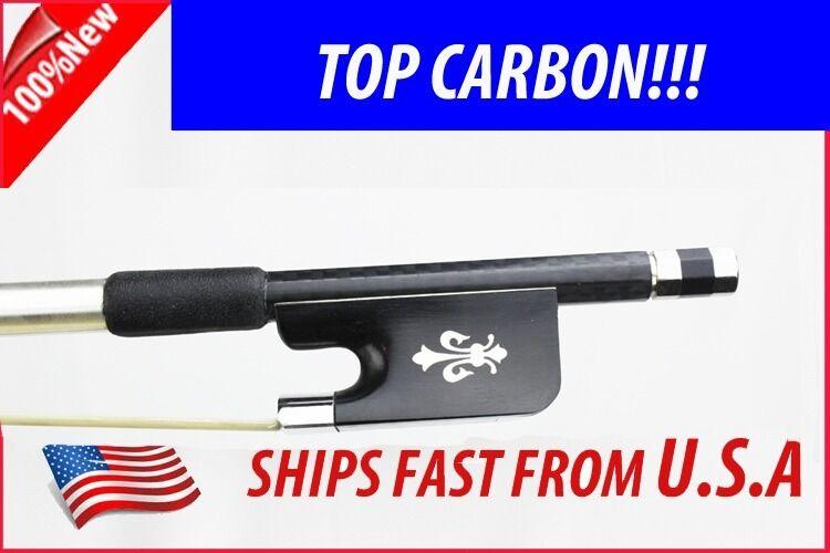 Top Grade Braided Carbon Fiber lila Bow 4 4 Fleur-de-lys