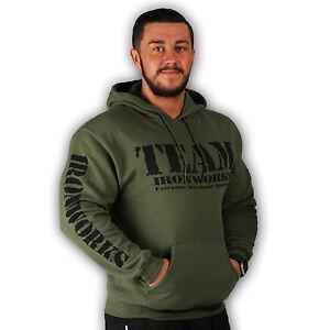 Militaire Vetements Entrainement Vert Bodybuilding Capuche Coton Homme BFn4qwTx