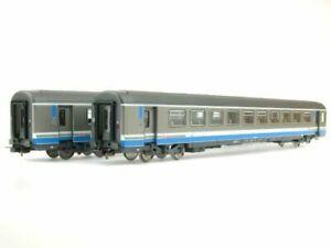 PIKO Échelle HO Set de 2 Voitures Corail Rhône-Alpes SNCF 1 et 2 Classe (58655)