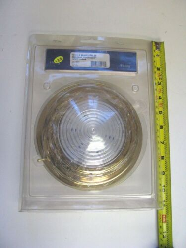 "Victory AA00551TNLED 5/"" Brass LED Marine Dome Light Titanium Nitrite 90069-1088"