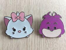 DISNEY PINS TSUM TSUM MARIE & CHESHIRE CAT  - 2 PINS AS SHOWN