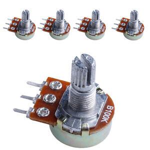 10Pcs Panel Pot B1K 15Mm 1K Ohm Linear Taper Rotary Potentiometer Ic New on