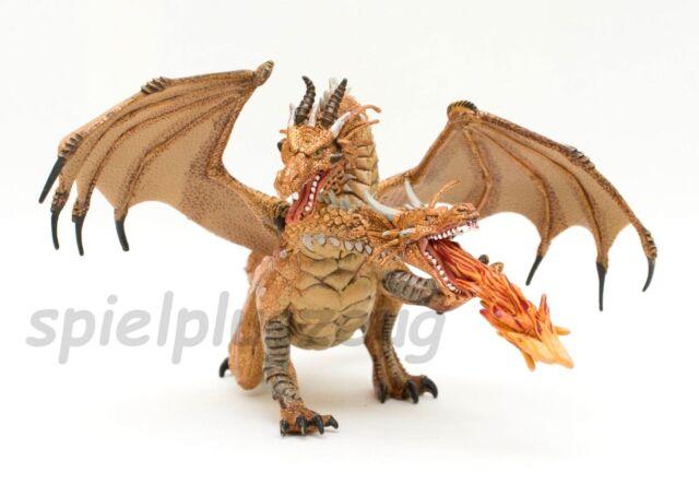 Papo 38938 Zweiköpfiger Drache gold Fantasy Figur NEU