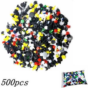500pc-Plastique-Voiture-Rivet-Rembourrage-Boue-Clip-Garniture-Panneau-Fixation