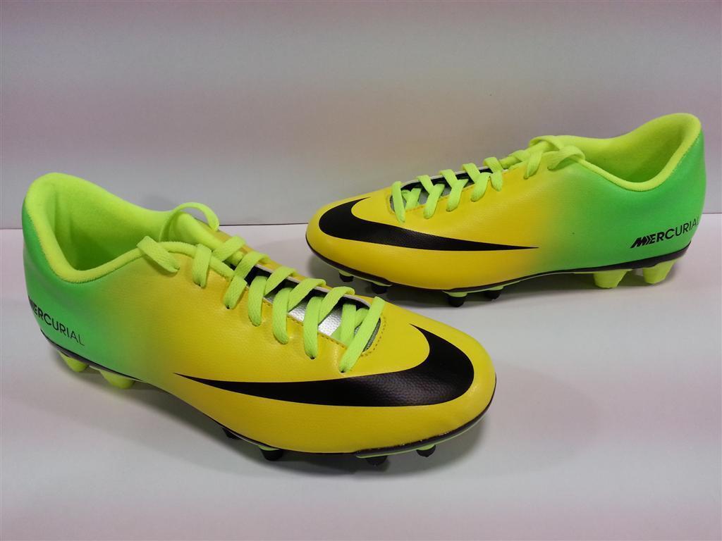 Brand New Uomo Nike Volubile Vortice Fg Vibrante Giallo Nero Neo Lime Coppa Del Mondo