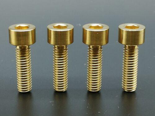 4 Pcs Ti Titanium MTB Gold Socket Head Bolts Disc Brake Adapter Mount M6 x 20mm