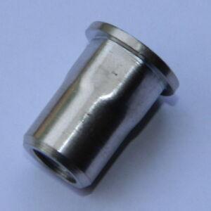 Edelstahl A2 Blindnietmuttern M8 Flachkopf glatt 0,5-3mm Einnietmuttern 10 Stk