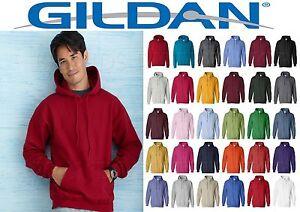 Details about 12 Gildan Hooded Sweatshirt Blanks Hoodies S to XL Mix colors Bulk Lot 12 pcs