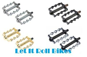 """New Bicycle 1//2/"""" Pedals Flat Twisted Lowrider Beach Cruiser Chopper Bikes Cyclin"""