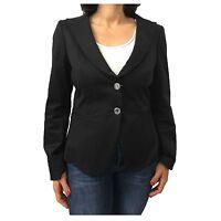 Maxmara Jacket Women Black Unlined Mod Firenze 96% Cotton 4% Elastane 48