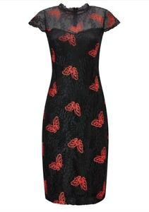 c8030c0d11aa2 Joe Browns Butterfly Lace Overlay Dress in Black Size 8 - 18 (W3.9 ...