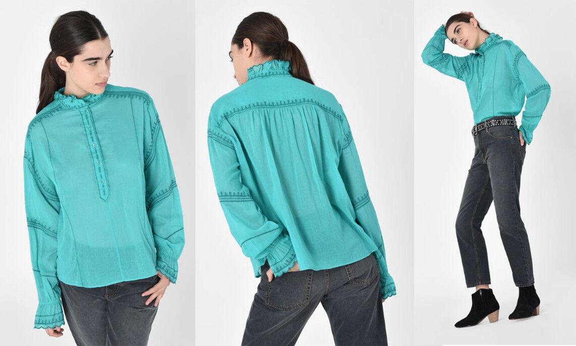 NWT etoile Isabel marant Louna ruffled blouse Größe 38