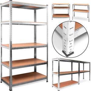 Etagere-875kg-Charge-Lourde-Metallique-de-Rangement-Objets-Atelier-180-x-90-x-40