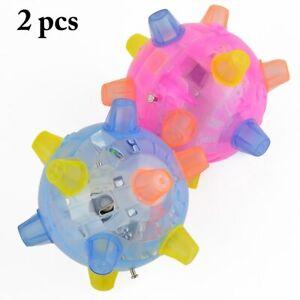 Animal Jumping activation Balle Lumière DEL musique clignotant Rebondissant vibrant Ball