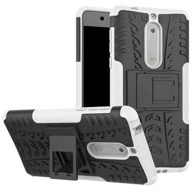 Carcasa híbrida 2 piezas EXTERIOR BLANCO Funda para Nokia 5