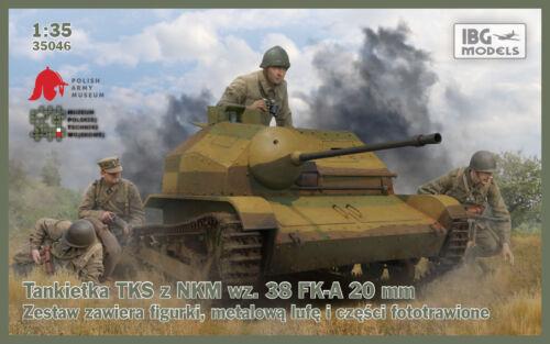 38 FK-A 20mm gun 1//35 IBG 35046 TKS Polish light reconnaissance tank with wz