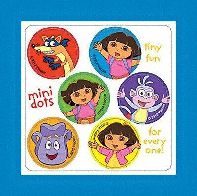 96 Dora the Explorer Dot Stickers (16 Sheets) Party Favors