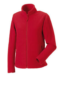 Russell Ladies Womens Plain RED Fleece Jacket No Logo | eBay